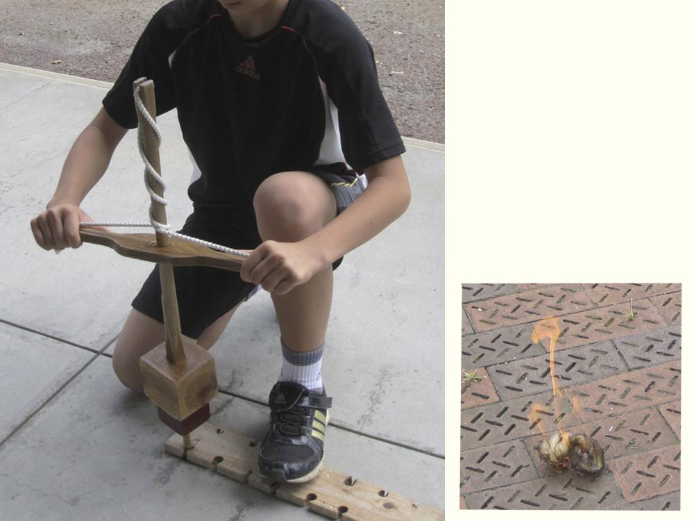 古代の火起こし